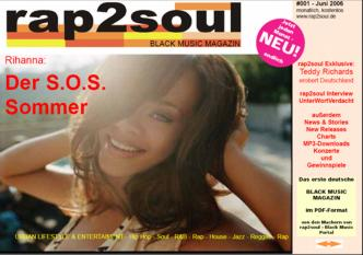 rap2soul - Black Music Magazin #001 - Juni 2006