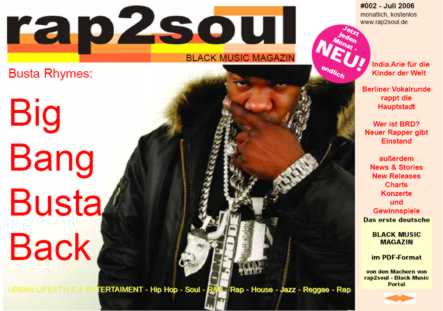 rap2soul - Black Music Magazin #002 - Juli 2006