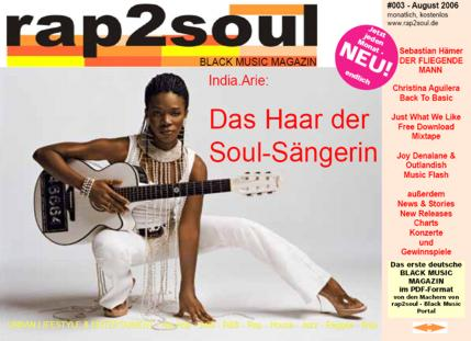 rap2soul - Black Music Magazin #003 - August 2006