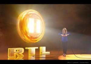 Shakira und Senderdesign von RTL II (Foto: RTL2)