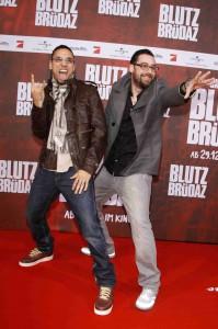 B-Tight und Sido - BLUTZBR†DAZ feiert Premiere in Berlin (Foto: obs / Constantin Film)