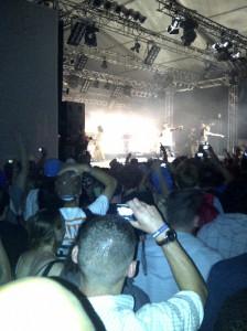 Nas auf der Bühne beim splash-Festival 2012