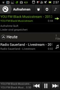 Screenshot: Radio-App im Test: Audials - Radio + Musik Sync - Aufnahmen