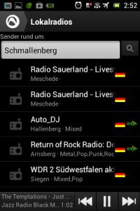 Screenshot: Radio-App im Test: Audials - Radio + Musik Sync - Lokale Radiosender