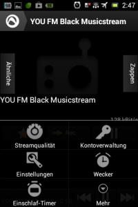 Screenshot: Radio-App im Test: Audials - Radio + Musik Sync - Optionen