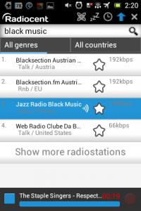 Screenshot: Radiocent - Radio hören