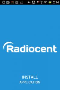 Screenshot: Radiocent - Start