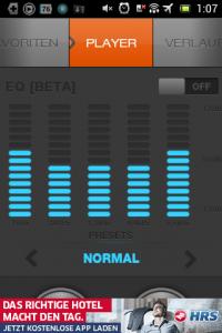 Screenshot: XiiaLive - Equalizer