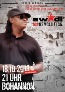 Awadi am 18.10.13 in Berlin