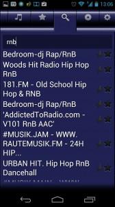 Screenshot: VirtualRadio - Radiosuche