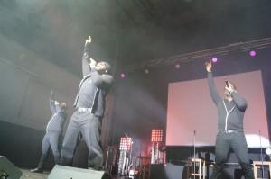 """Boyz II Men während ihres Münchenstopps der """"Collide""""-Tour."""