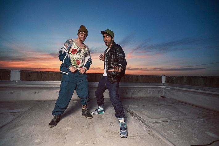 Eko Fresh und Ferris MC in BLOCKBUSTAZ (Foto: obs/ZDFneo)
