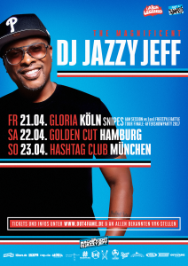 DJ Jazzy Jeff (Plakat Out4Fame)