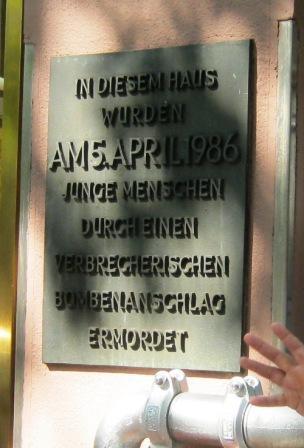 "Erinnerung an den Bombenanschlag im ""La Belle"" Berlin (Foto: rap2soul)"